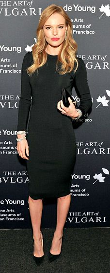 Kate Bosworth rocked an elegant long-sleeved LBD for the exhibit opening on Sept. 18 in San Francisco.