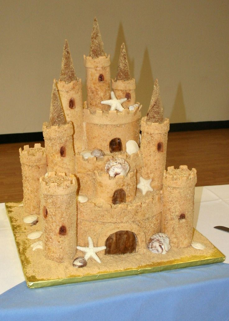 sand castle wedding cakes | Providing beautiful wedding cakes for couples in southern and midcoast ...