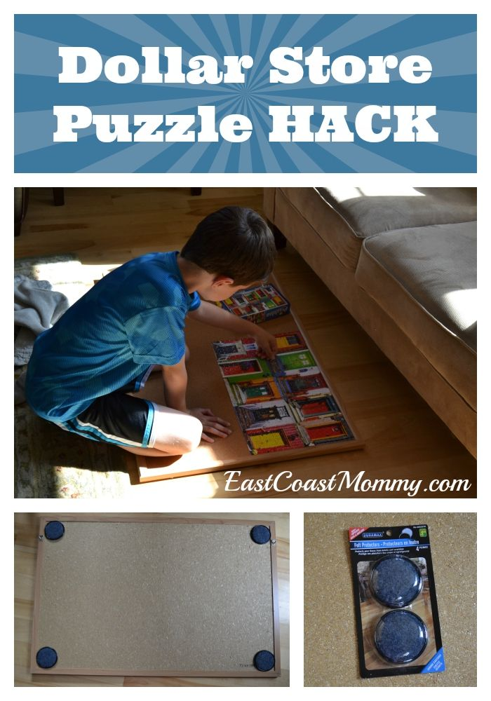 Dollar Store Puzzle Hack Dollar Stores Puzzles And Ideas