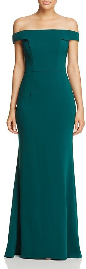 Carmen Marc Valvo Infusion Off-The-Shoulder Gown