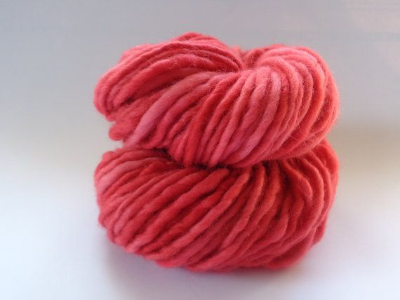 Red Wool Yarn  Bulky weight by deorigenchile on Etsy, $20.00