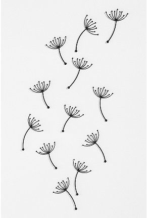 so many interesting things to do with walls... dandelion wall art from URban