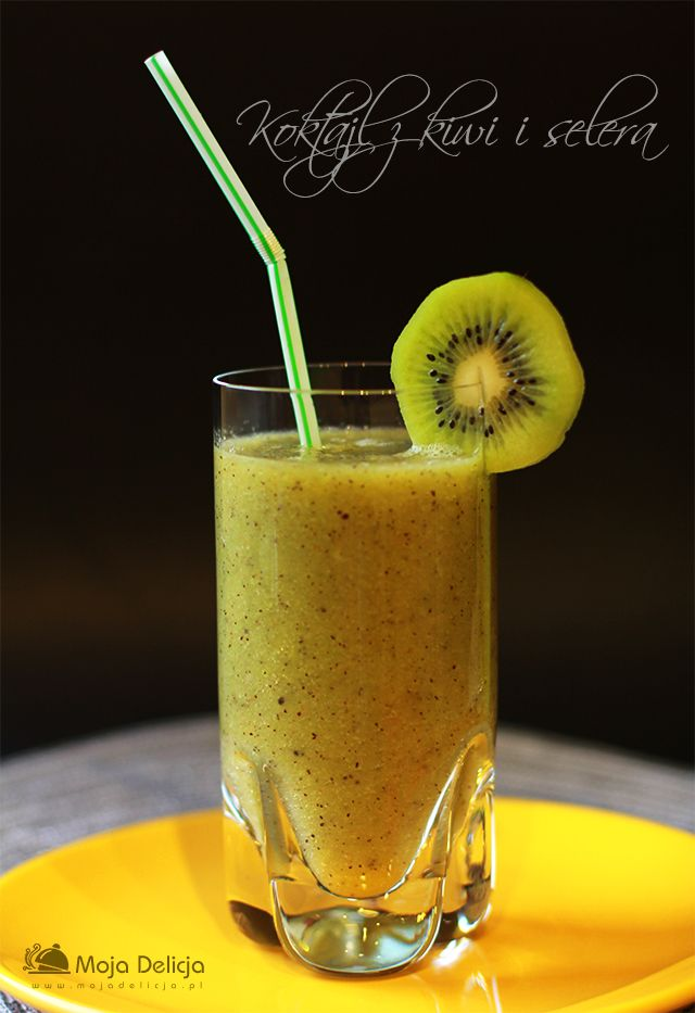 2 owoce kiwi – dojrzałe 1 łodyga selera naciowego 1 łyżka miodu 1/2 szklanki wody