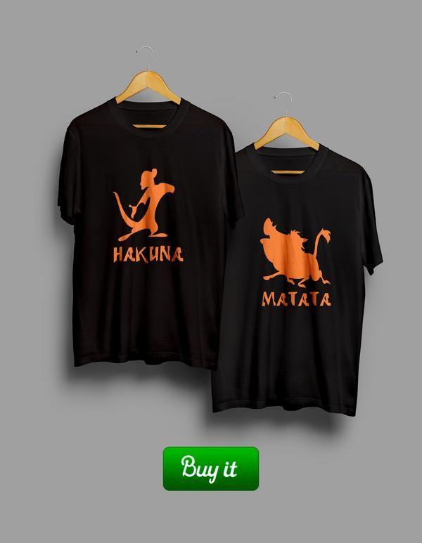    Если ваши шутки понимаете только вы сами, поздравляем. Эти футболки как раз то, что нужно. Они превратят естественную безбашенность в легкий шарм. Но с юмором все останется как прежде. #together #love #couple #husband #wife #forever #heart #любовь #girlfriend #boyfriend #Tshirt #любовь #пара #hakuna #matata #timon #pumba