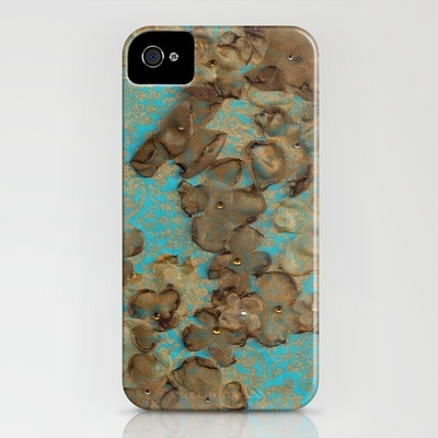 Gold Flowers_Turquoise - iPhone Case by Garima Dhawan: Iphone Cases, Artprints, Society6 Follow, Gold Art, Art Prints, Garima Surroundings, Gold Flowers Turquoise, Flowers Turquoise Art