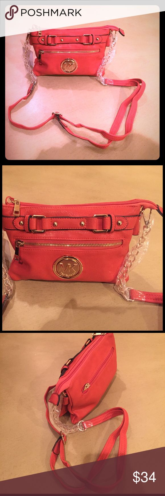 Michael kors Handbag orange This is brand new Michael kors replica Handbag orange for fraction of cost. Get ready for the spring if you want to carry something light weight to school, work or travel. KORS Michael Kors Bags Crossbody Bags