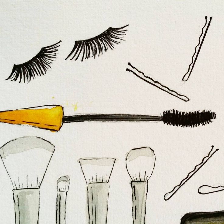 Another birthday present for the makeup addict #originalartwork #watercolour #ink #illustration #instaart #makeupaddict #makeupillustration #watercolourart #paperfortdesigns