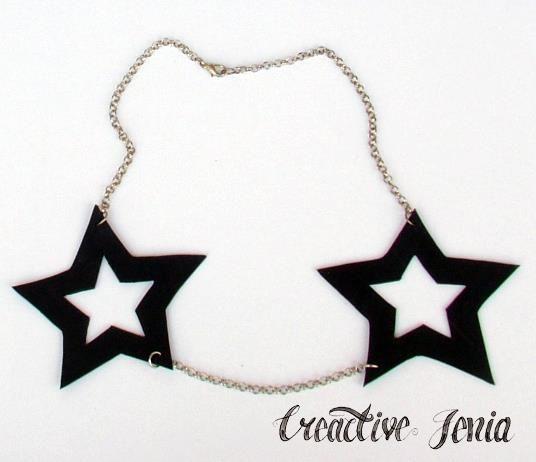 ★ TATTOO STARS ★ _ recycled auto & chain  http://creactivejenia.wix.com/creactivejenia
