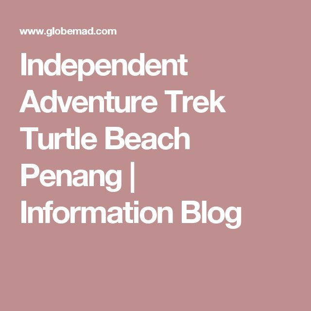Independent Adventure Trek Turtle Beach Penang | Information Blog