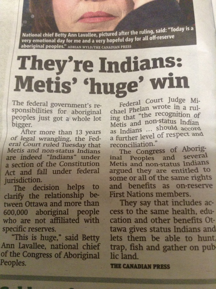 Huge Win For Metis!