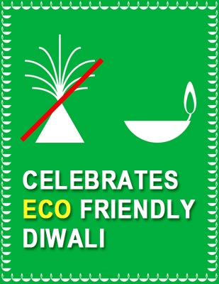 #Celebrate #ecofriendly #Diwali by using #diyas instead of #smoke producing #crackers.