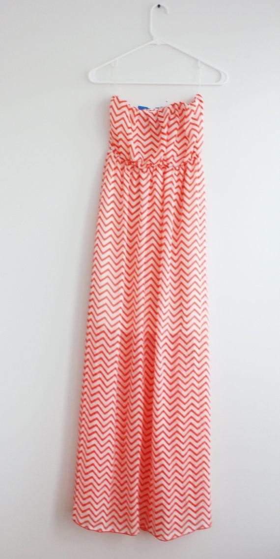 Chevron robe Maxi causale Maxi robe robe longue Sun Dress