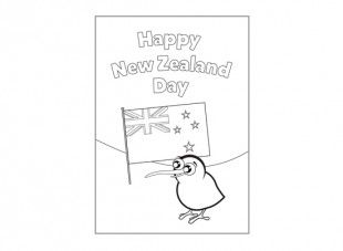 Colour in this greeting card and give it to someone special to on New Zealand Day!