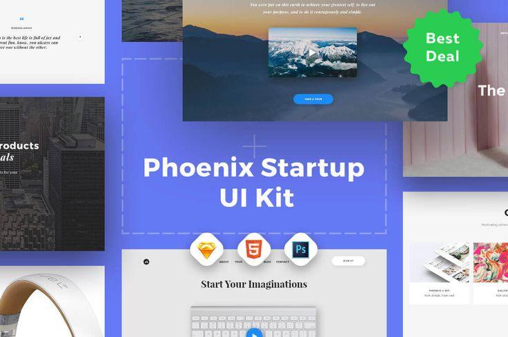 Phoenix Startup UI Kit: 110 Landing Page Templates - only $34!