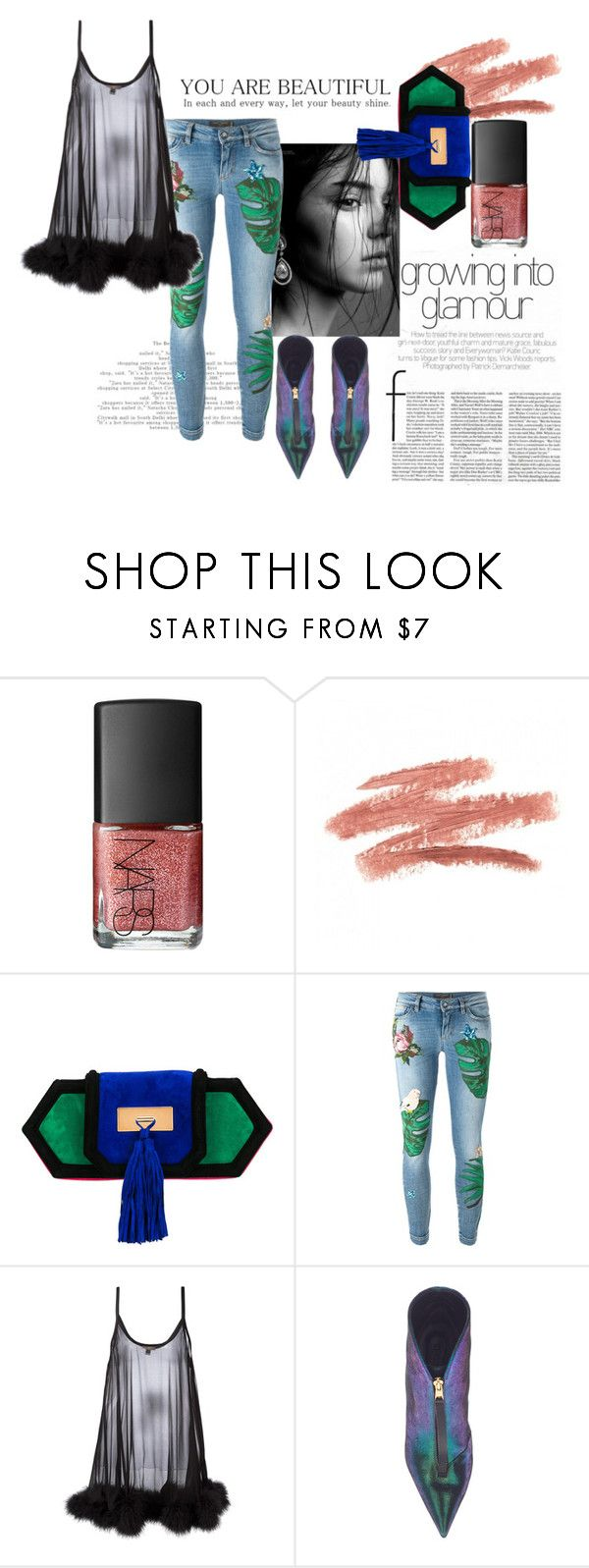 """""""Style"""" by stylelikeabitch on Polyvore featuring NARS Cosmetics, Balmain, Dolce&Gabbana and Gilda & Pearl"""