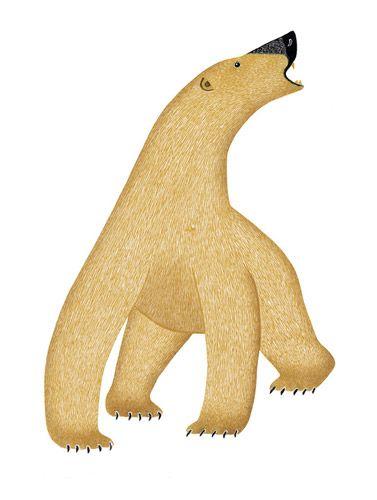 Ninngaumajuq Nanuq • Angry Bear (2007) by Kananginak Pootoogook, Inuit artist