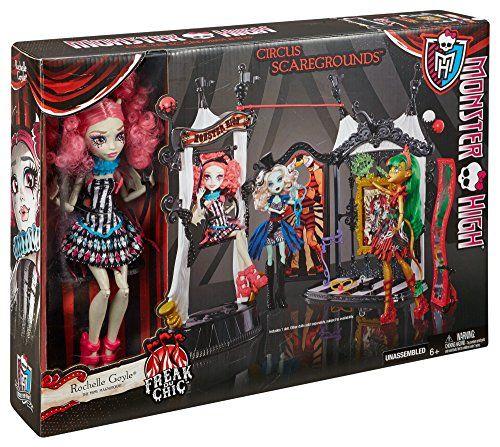 【楽天市場】モンスターハイ人形ドール Monster High Freak du Chic Circus Scaregrounds and Rochelle Goyle Doll Playset:ファミリーポケット