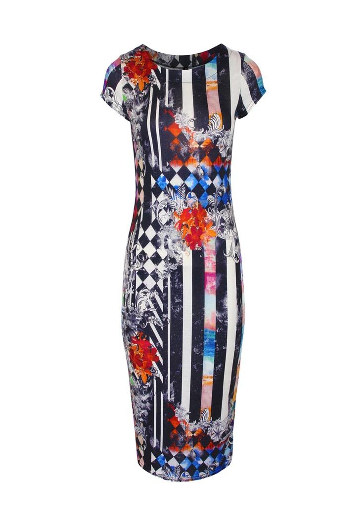 Loren Midi Dress £11.99 http://www.prodigyred.com/street-art/c88_89/p3686/loren-mixed-baroque-pattern-midi-dress/product_info.html?attr_id=24
