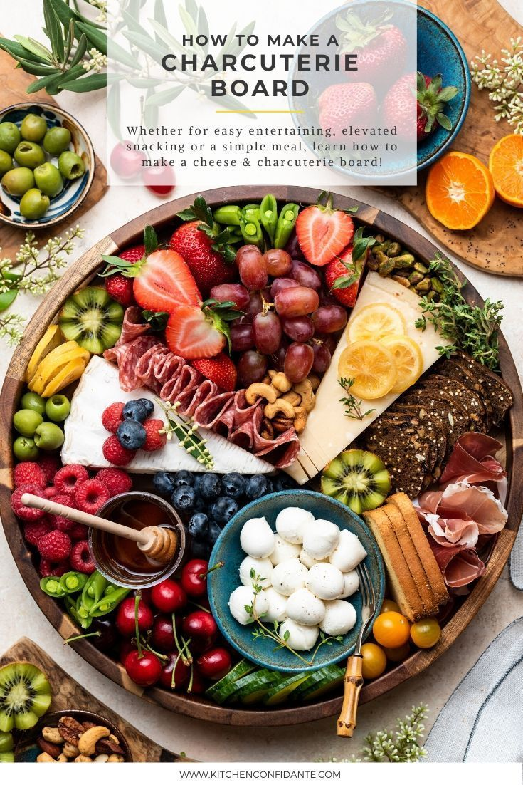 How To Make A Charcuterie Board Kitchen Confidante In 2020 Charcuterie Recipes Food Platters Snacks