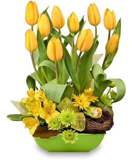 On The Bright Side Floral Arrangement | Spring Flowers | Flower ...