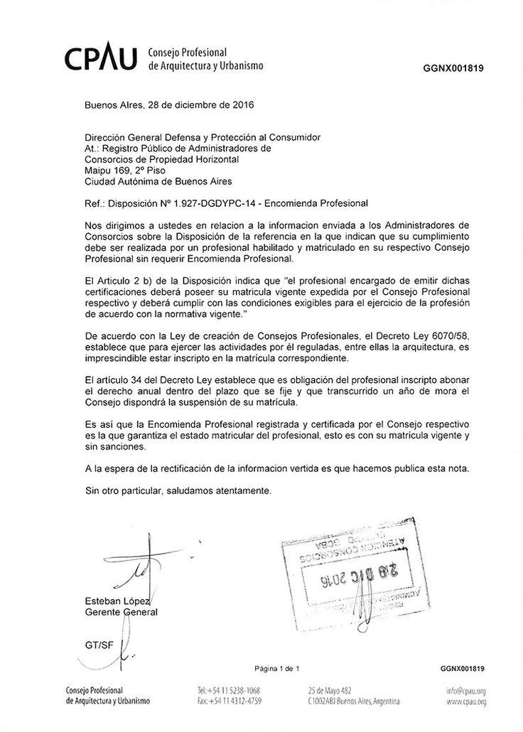 ACCIONES | ENCOMIENDA PROFESIONAL PARA LA CERTIFICACIÓN DE EDIFICIO SEGURO  Ante la información del Registro Público de Administradores de Consorcios de Propiedad Horizontal a los Administradores de no requerir Encomienda Profesional para la certificación de Edificio Seguro, el CPAU emitió a la institución la nota GGNX001819 explicando su importancia.  Más info: http://ly.cpau.org/2iinH5B  #NoticiasCPAU #RecomendadoARQ #EjercicioProfesional #Arquitectura