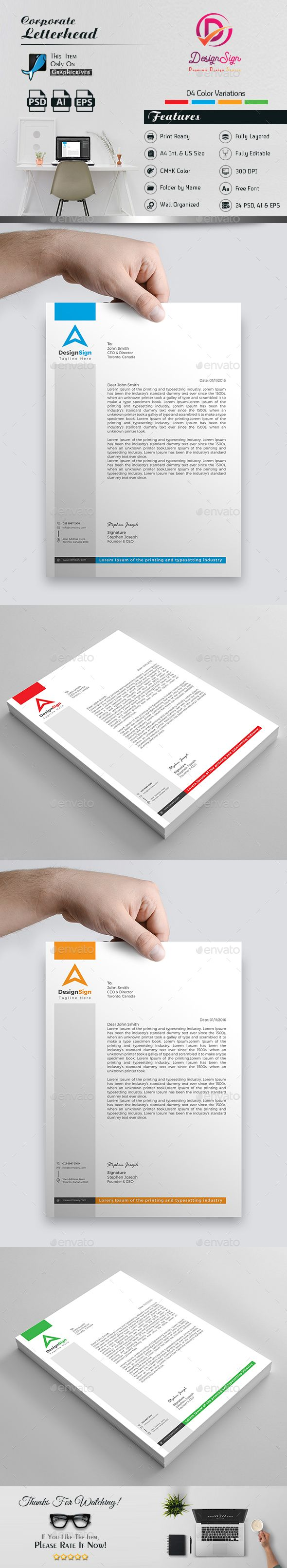 letterhead stationery print templates download here httpsgraphicrivernet - Letterhead Design Ideas