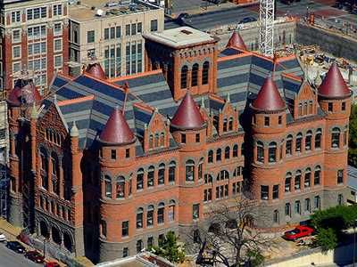 """Dallas, TX - Bird's-eye View of """"Old Red"""" Courthouse by C. DeWaun Simmons"""