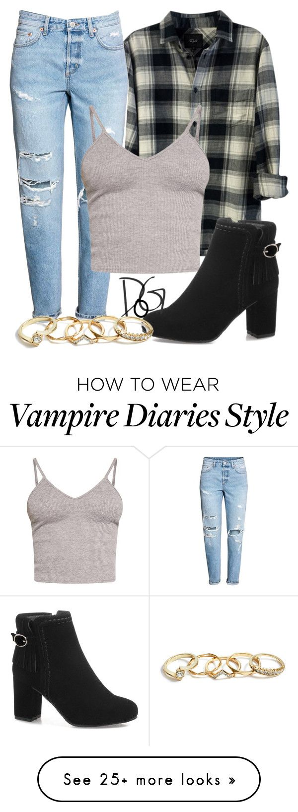 """""""""""Just past the bridge and tunnels, I feel the ground under my shoes"""" / Bonnie Bennett - The Vampire Diaries"""" by dreamsofglory on Polyvore featuring Rails, BasicGrey and GUESS"""