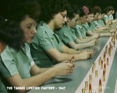 The Tangee Lipstick Factory - 1947 -assembly line