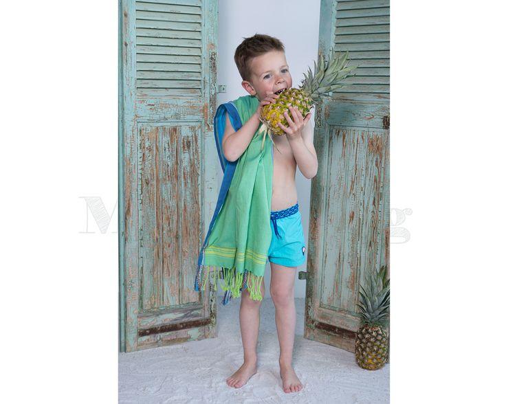 Pure-Kenya-Kikoy-kids-Nyasi-green www.mbstyling.nl