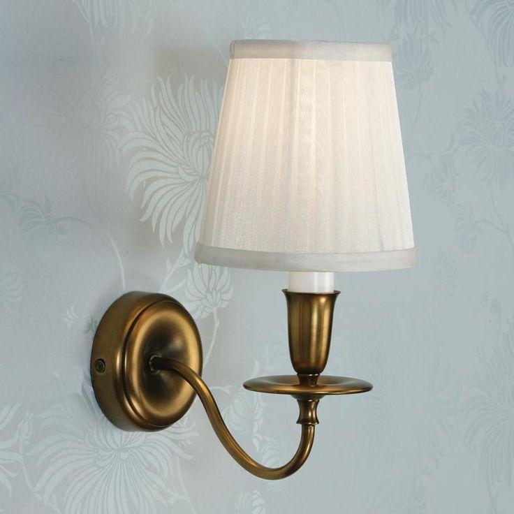 Interiors 1900 CA12W1B + MC2SHOW Venus Brass Wall Light, White DC Lighting Ltd Online Lighting ...
