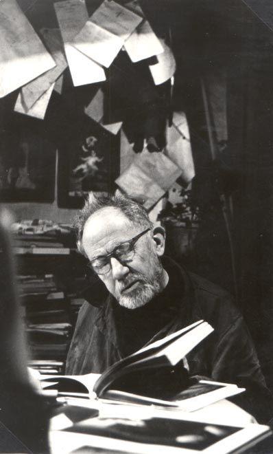 Photo Detail   Alena Sourkova - Josef Sudek in his Studio, 1970
