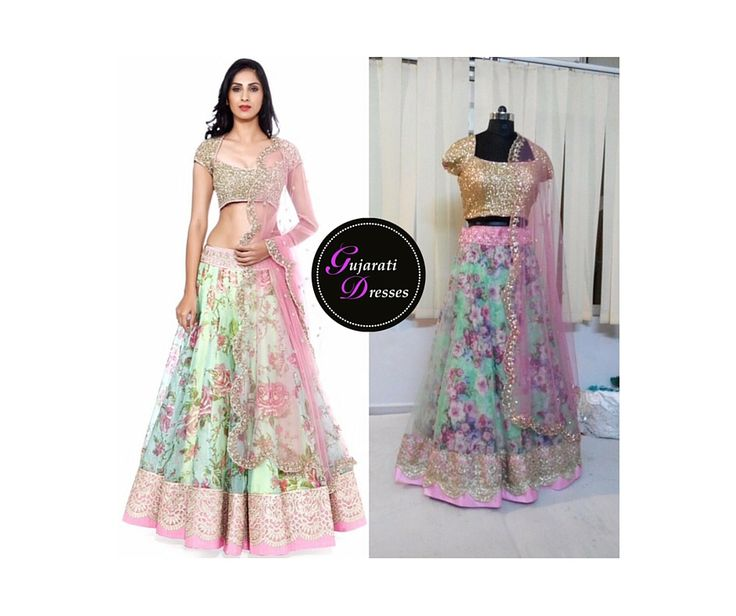 This floral pattern is beautiful! I absolutely love this dress!! http://www.gujaratidresses.com/anushree-reddy/