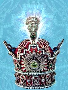 Pahlavi Crown was used for coronation by the Pahlavi Shahanshahs of Iran (Persia) and is part of the Iranian Crown Jewels.