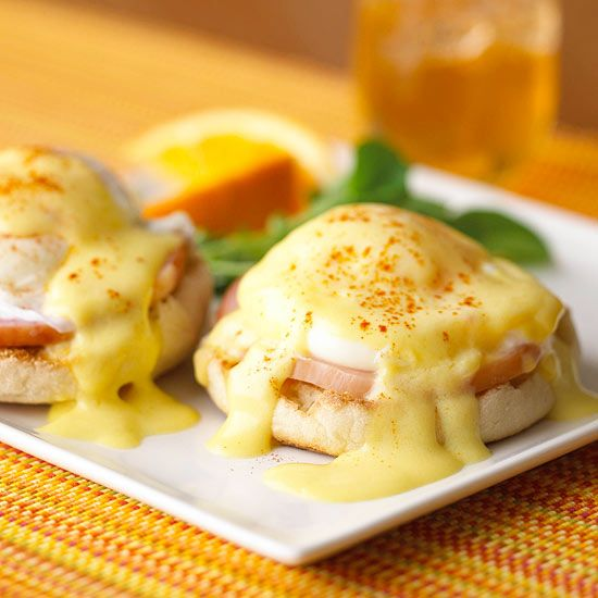 Eggs Benedict, a showy restaurant favorite, is also a luscious brunch entree to make at home. We'll show you how to make the classic version and a few shortcuts, too.