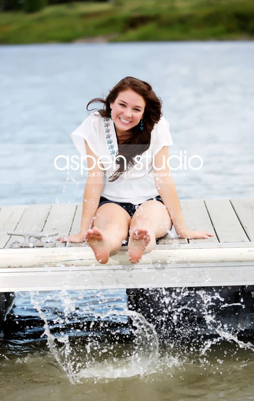 Lake senior photo - Adorable!
