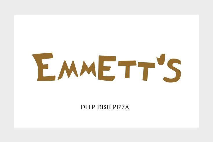 Deep-dish Identity for Emmett's Pizzeria | Chandelier Creative