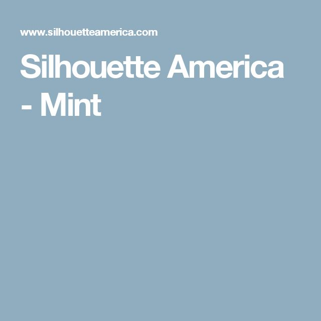 Silhouette America - Mint