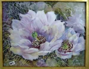 Porcelain artist and teacher, Paula White is teaching Cacti from the Southwest at OPAR in 2013.
