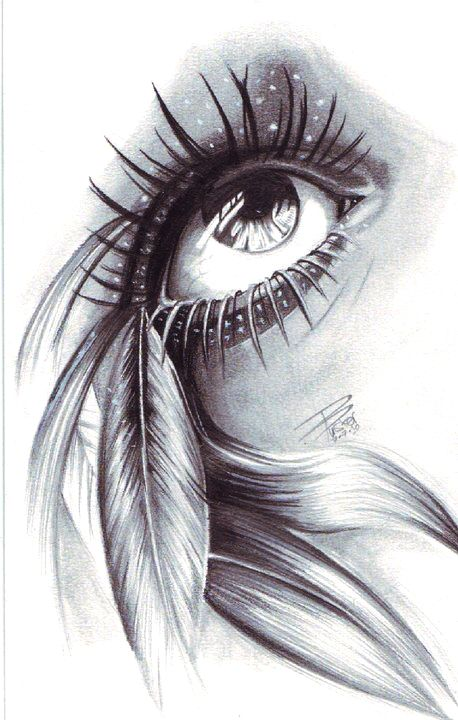 Cool eye drawing  The highlight on the lower lashes really creates the illusion that it is standing away from the skin.