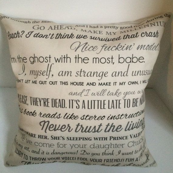 Beetlejuice movie quote pillow COVER ONLY by CraftEncounters