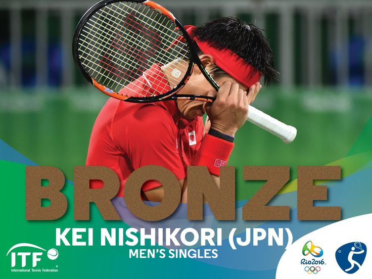 8/14/16 Via ITF Olympic Tennis·    It's bronze for Japan! Kei Nishikori defeats Rafael Nadal 62 67(1) 63 to win bronze in the men's singles at #Rio2016