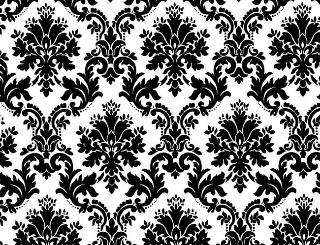 Black And White Floral Pattern Wallpaper: Black White Floral Background