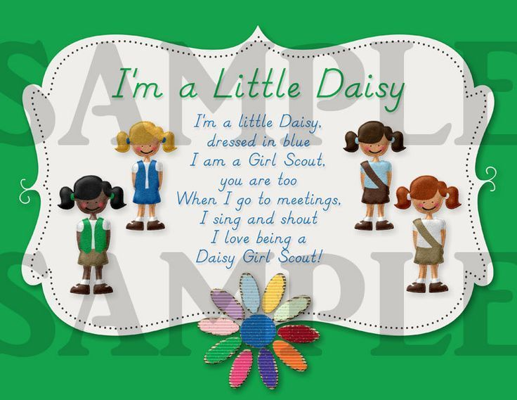 photo about Girl Scout Daisy Song Printable referred to as Impression consequence for woman scout daisy track printable Lady