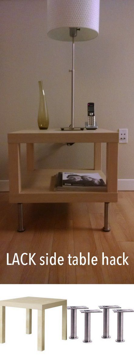 LACK side table with CAPITA legs http://www.ikeahackers.net/2017/03/lack-side-table-capita-legs.html