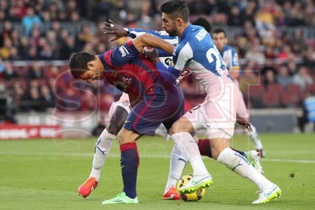 Falta en contra de Luis Suárez | Barça, 5 - Espanyol, 1