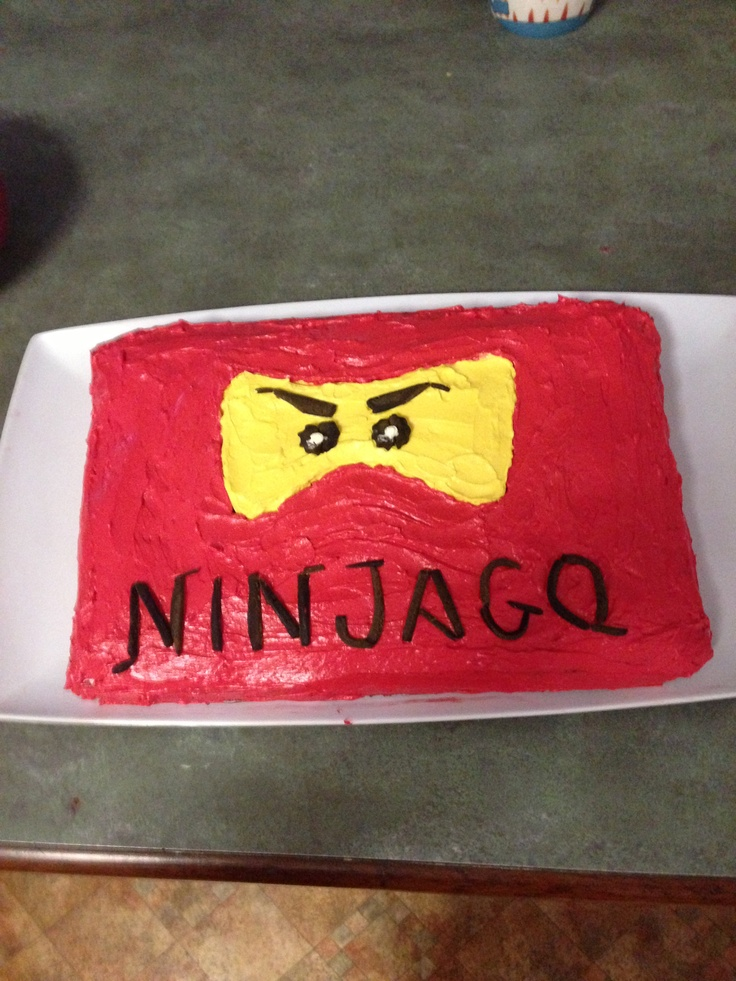 My sons 4th birthday Ninjago cake I made