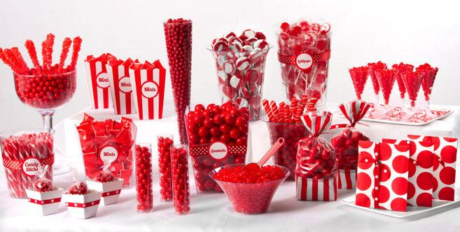 Red Candy Buffet - Party City has everything I will need for red and black