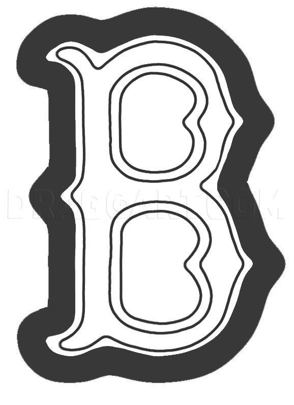 How To Draw The Boston Red Sox Logo Coloring Page Trace Drawing Red Sox Logo Boston Red Sox Logo Boston Red Sox