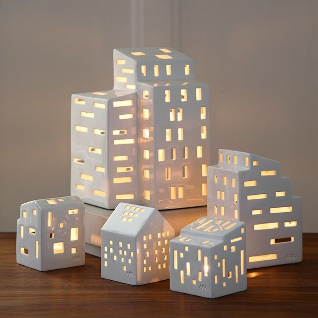 Create a unique little village of your favourite Urbania light houses of varying sizes and traits, and place them on the window sill, on the coffee table or in the hallway to personally greet your guests.